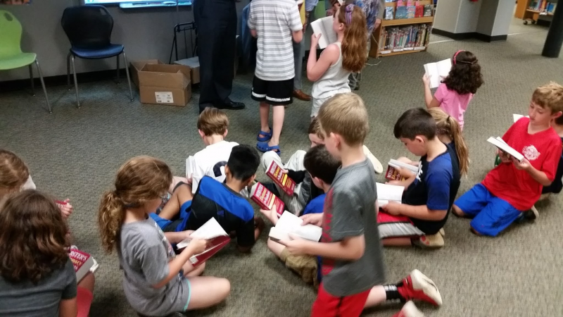 Students enjoy new dictionaries