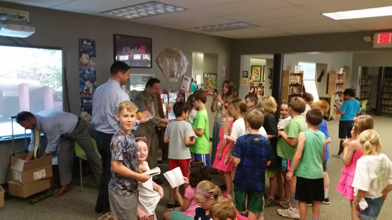 Rotarians hand out Dictionaries to 3rd Graders