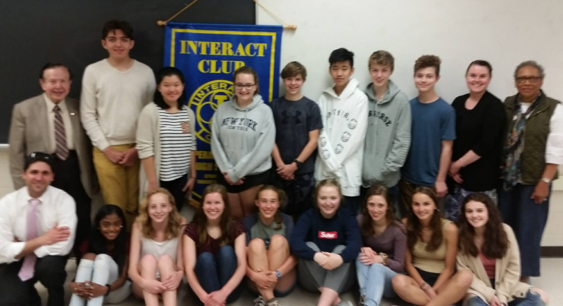 Tribury Rotary visits Pomperaug Interact Club